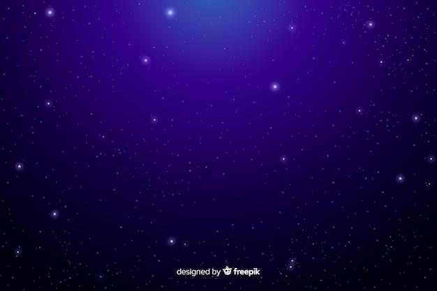 Céu cristalino com fundo de estrelas