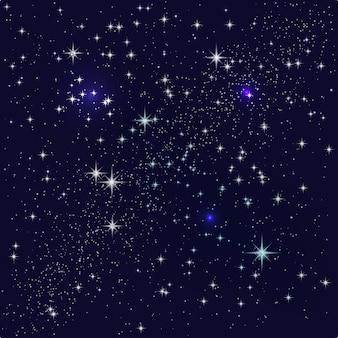 Céu da noite estrelada.