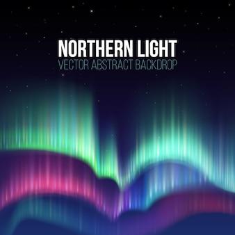 Céu de inverno com luzes polares vector fundo