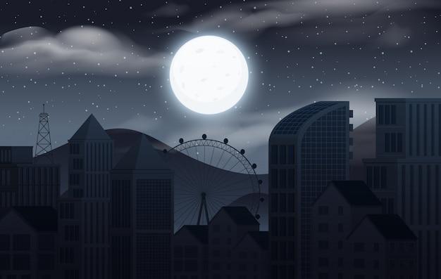 Céu escuro sobre a cidade