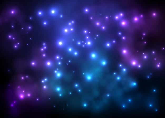 Céu estrelado brilhante