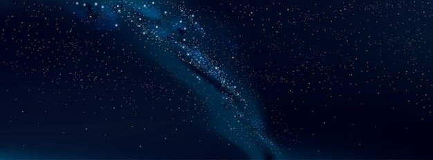 Céu estrelado de fundo vector e via láctea