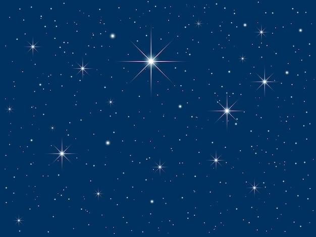 Céu noturno cheio de estrelas cintilantes