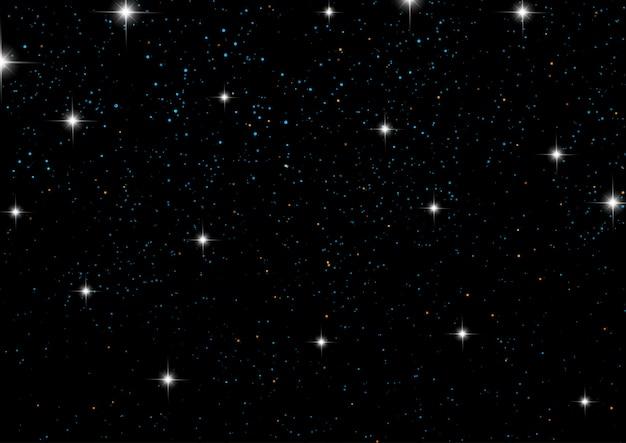 Céu noturno, com, estrelas
