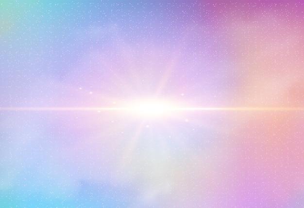 Céu noturno pastel fantasia galáxia fundo