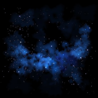 Céu noturno vibrante, via láctea, espaço, galáxia, nebulosa, nuvens, estrelas