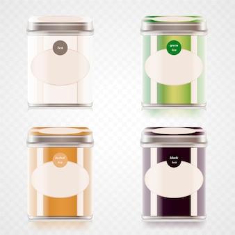 Chá colorido realista