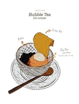 Chá da bolha gelado