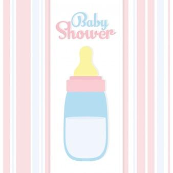 Chá de bebê. acessório de leite de mamadeira
