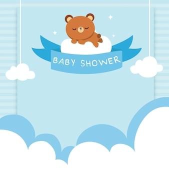 Chá de bebê bonito do urso bonito