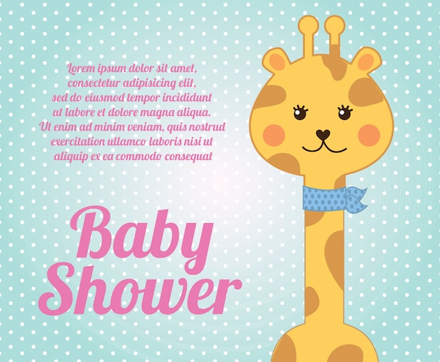 Chá de bebê girafa