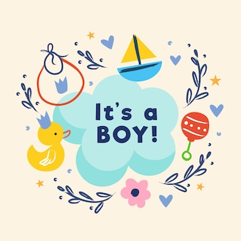 Chá de bebê (menino) com brinquedos