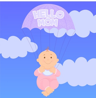 Chá de bebê ou cartão de chegada
