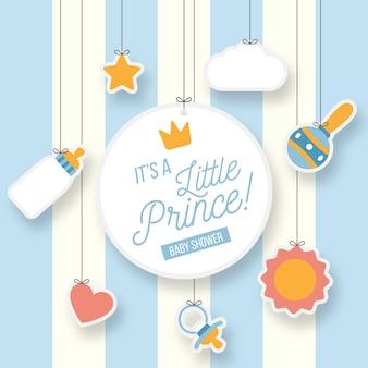 Chá de bebê pequeno menino príncipe