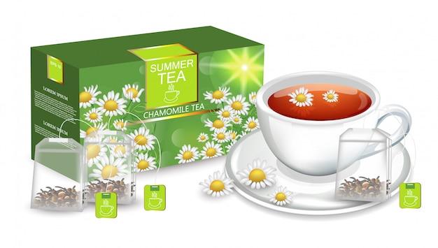 Chá de camomila mock up