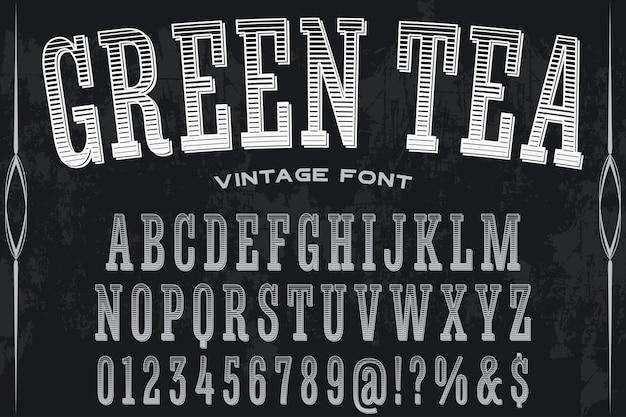 Chá de design de rótulo de tipo de letra