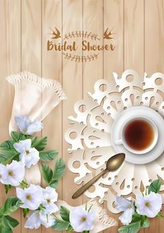 Chá de panela ou cartão de convite de casamento