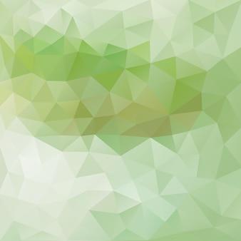 Chá verde e fundo poligonal de menta