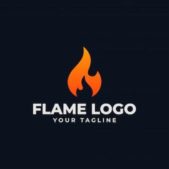 Chama de fogo abstrata, queimar modelo de design de logotipo