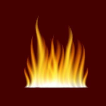 Chama de fogo ardente realista