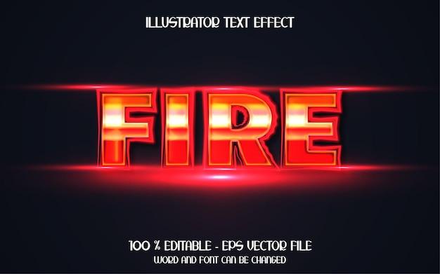 Chama de fogo, efeito de texto forte