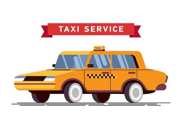 Chamada de motorista de táxi com fundo de serviço de smartphone