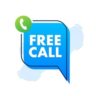 Chamada grátis. tecnologia da informação. ícone do telefone. atendimento ao cliente. ilustração em vetor das ações.