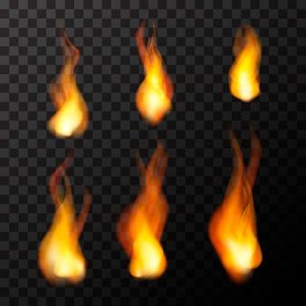 Chamas de fogo brilhante