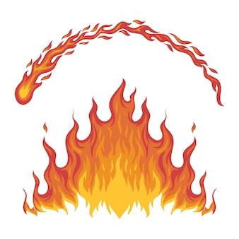 Chamas de fogo. fácil de usar em todas as necessidades