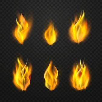 Chamas de fogo realistas