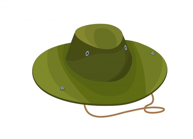 Chapéu de camuflagem ícone isolado no estilo cartoon