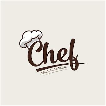 Chapéu de chef cozinha logotipo modelo inspiração vetor premium 1