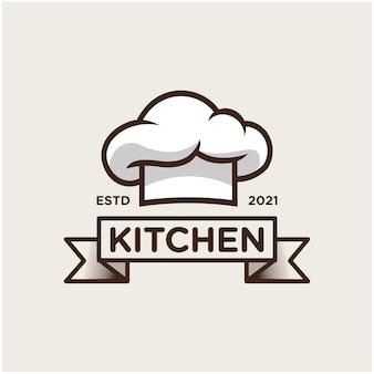 Chapéu de chef cozinha modelo de logotipo de inspiração vetor premium 2