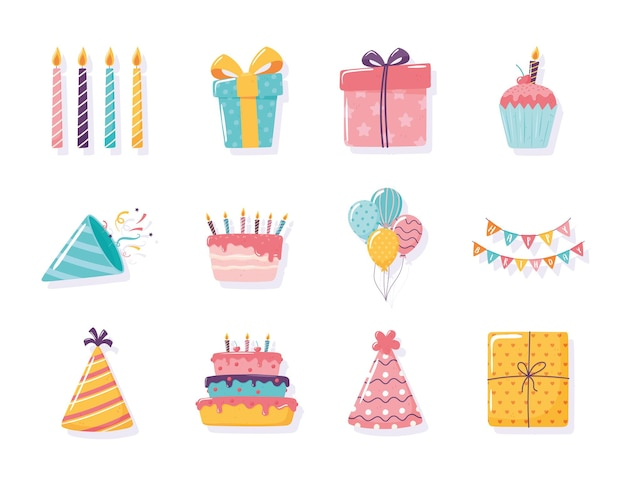 Chapéu de feliz aniversário para bolo