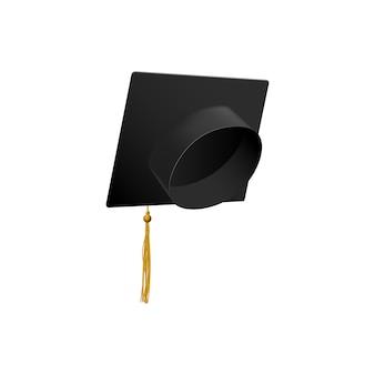 Chapéu de formatura borla símbolo de educação