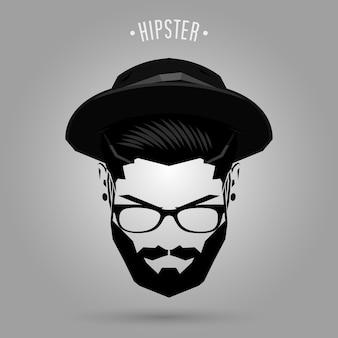 Chapéu de homem hipster