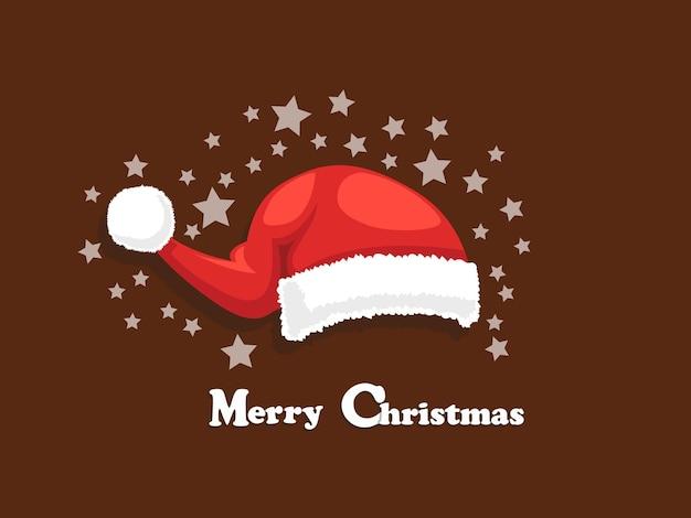 Chapéu de papai noel feliz natal isolado no fundo. feliz ano novo e ilustração de element.vector de decoração.