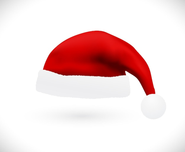 Chapéu de papai noel vermelho natal