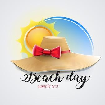 Chapéu feminino para dia de praia