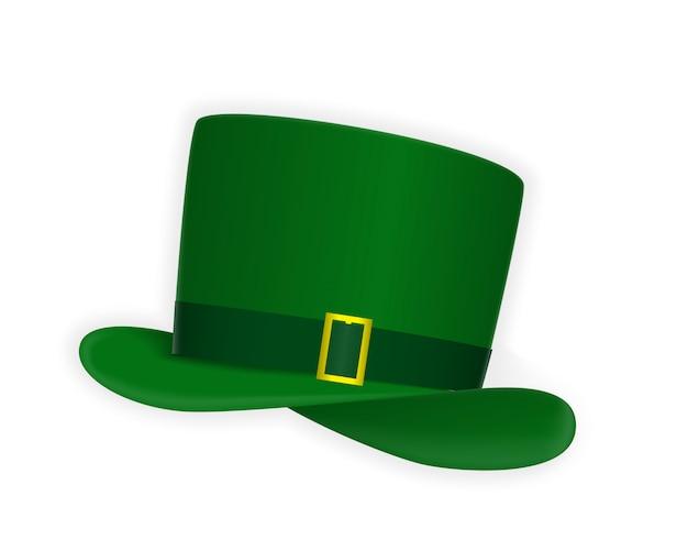 Chapéu festivo verde naturalista com fio dourado