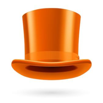 Chapéu laranja isolado no branco