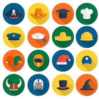 Chapéu liso ícones