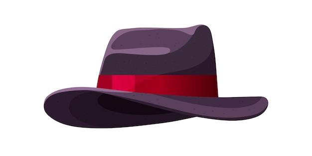 Chapéu masculino com aba larga