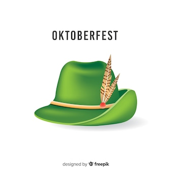 Chapéu tradicional de oktoberfest realista