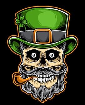 Chapéu verde de crânio hipster