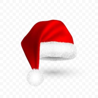 Chapéu vermelho de papai noel isolado