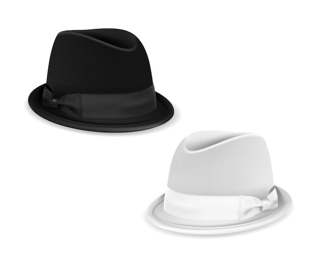 Chapéus de coco branco amd preto