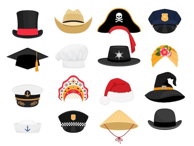 Chapéus de fantasias de carnaval.