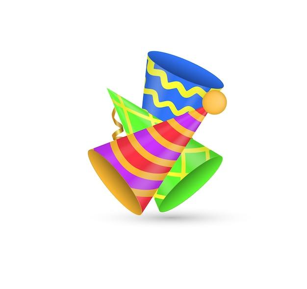 Chapéus de festa brilhantes bonés festivos para festas e feriados celebrações aniversário cone de papel chapéu