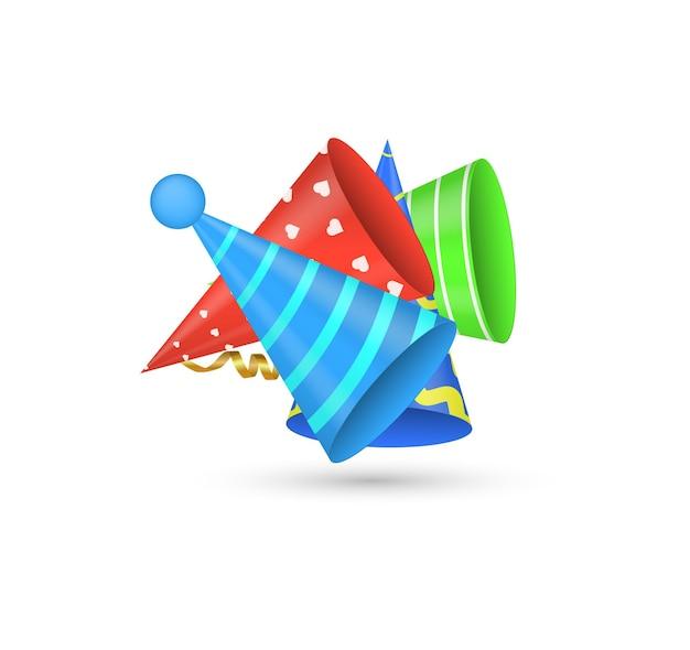 Chapéus festivos bonés brilhantes para festas e comemorações de feriados aniversário cone de papel